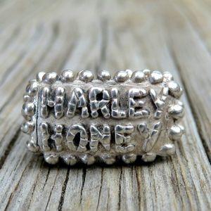 Vintage 925 Designer Dian Malouf Harley Honey Ring